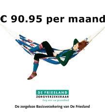 basis premie de Friesland Zorgverzekering 2014 zorgverzekeringen 2014 vergelijken Premie de Friesland Online Verzorgd, € 90.95 per maand